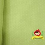 ผ้าลายจุดขนาด 1mm พื้นเขียวใบตองอ่อน รุ่น Quilter's First Collection ผ้าฝ้ายเนื้อดี