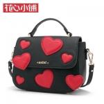 กระเป๋า Axixi พร้อมส่ง รหัส NM12145 สีดำ แต่งรูปหัวใจ น่ารักค่ะ