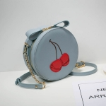 กระเป๋า Axixi พร้อมส่ง รหัส NM12038-6 สีน้ำเงิน ลายเชอรี่ ทรงกลม แบบสวยมากค่ะ