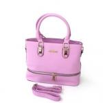 กระเป๋าสะพายข้างผู้หญิงพร้อมส่ง รหัส SUC0021PP สีม่วง แต่งซิปรอบกระเป๋า น่ารักค่ะ