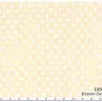 ผ้าลายจุด ขนาด 3 mm รุ่น Color Basic ของ Lecien พื้นครีมจุดขาว