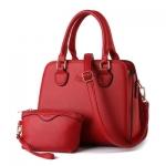 กระเป๋าถือและสะพายข้างผู้หญิง รหัส SUIF0209RD สีแดง set 2 ใบ สุดค้ม น่าใช้มากค่ะ