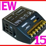 SCC006: โซล่าชาร์จเจอร์ Solar Panel Charger Controller Regulator 15A 12V/24V