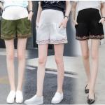 างเกงขาสั้นคนท้อง มี 3 สีให้เลือก มีผ้าพยุงท้อง