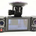 สุดเทพ!! กล้องติดรถยนต์ ระดับHD มีกล้องหน้า/หลัง - GS-TWIN+ II ด้วยกล้อง HD 1280*720 / VGA มี Night Vision ,อัดวนลูป 32GB