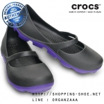W5 (22 cm.) : Crocs Duet Sport Mary Jane - Onyx / Ultraviolet ของแท้ Outlet ไทยและอเมริกา