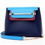 กระเป๋าแฟชั่นเกาหลี รหัส SUIF0148BL สีน้ำเงิน แต่งที่คาดสีทอง น่าใช้ค่ะ