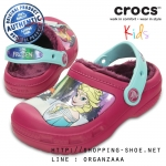 C6/7 (14.5 cm.) : Creative Crocs Frozen Lined Clog - Berry ของแท้ Outlet ไทยและอเมริกา