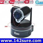 IPC005 กล้องIP CAMERA INDOOR WIRELESS WIFI ZOOM/PAN/TILT แบบไร้สาย หมุนกล้องแนวนอน300องศา แนวตั้งได้90องศา ยี่ห้อ OEM รุ่น NIP-09BGPWA2