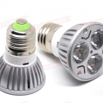 LDL005 High Power LED spot Lamp E27 3×1 W แสงพุ่ง 30 องศา แสงพุ่ง 30 องศา สีCool White 85~220V