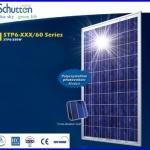 แผงโซล่าเซลล์ Schutten Solar Cell Poly-crystalline module 250W มาตราฐาน TUV IEC CE แผงโซล่าเซลล์อายุการใช้งานนาน 25ปี เหมาะสำหรับโครงการ solar Rooftop