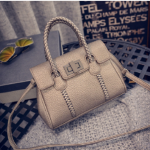 กระเป๋า Style เกาหลี พร้อมส่ง รหัส SUIF0222GD สีทอง สายสะพายแบบถัก เรียบหรู ดูดี