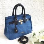 กระเป๋าถือและสะพายข้างผู้หญิงพร้อมส่ง รหัส SUB0022BK หูหิ้วสีดำ สวยค่ะ
