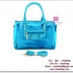 กระเเป๋าแฟชั่นพร้อมส่ง รหัส HB-1001 เนื้อพลาสติกใส มีกระเป๋าใบเล็กด้านใน สวยค่ะ