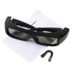 ขายแว่นตาสามมิติ ราคาถูก สำหรับดูหนังสามมิติ(Active Shutter-Panasonic) - Black Frame 3D TV Active Glasses for 3D Movie Game Theater , 3D Glasses