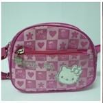 กระเป๋าสะพายเด็ก Hello Kitty สีชมพู ลายหัวใจ