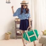 พร้อมส่ง กระเป๋าเดินทางPG สีเขียว ใบใหญ่ ใส่ของได้เยอะ สามารถถือและลากได้ สวย ค่ะ