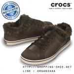 W7 (24 cm.) : Crocs Hover Lace Up Fur - Espresso / Stucco ของแท้ Outlet ไทยและอเมริกา