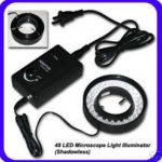 LER002 48 LED Microscope Ring Light Illuminator Adjustable Brightness ยี่ห้อ OEM รุ่น GX-480