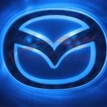 LFC021 LED Car Logo MAZDA โลโก้ LED มาสด้าา แดง ขาว ฟ้า ยี่ห้อ OEM รุ่น