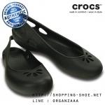 W7 (24 cm.) : Crocs Taylor Slingback - Black ของแท้ Outlet ไทยและอเมริกา