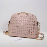 กระเป๋า Axixi พร้อมส่ง รหัส NM12155-3 สีชมพู แต่งบายฉลุ อะไหล่สีทอง สวยสุดๆ