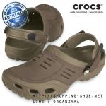 M7 (26 cm) : Crocs Yukon Sport Clog - Khaki / Coffee ของแท้ Outlet ไทยและอเมริกา