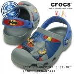 C6/7 (15 cm.) : Creative Crocs Batman Clog - Concrete ของแท้ Outlet ไทยและอเมริกา