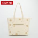 กระเป๋า Axixi พร้อมส่ง รหัส NM12071 สีเบจ ทรง Shoppingbag แบบสะพายข้างผู้หญิง สวยค่ะ