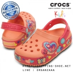 C12 (19 cm.) : CrocsLights Butterfly Clog - Melon / Poppy ของแท้ Outlet ไทยและอเมริกา