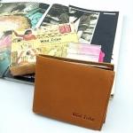 พร้อมส่ง กระเป๋าเงินผู้ชายใบสั้นหนังแท้ สี กากี งานหนังแท้ทั้งใบ แบบสวย น่ารักค่ะ