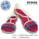 W6 (23.5 cm.) : Crocs Isabella Sandal - Berry / Oyster ของแท้ Outlet ไทยและอเมริกา