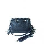 กระเป๋าสะพายข้างผู้หญิง รหัส SUC0017BL สีน้ำเงิน แต่งลายถัก น่ารักค่ะ
