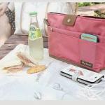 กระเป๋า bag in bag รหัส 4935 สีชมพู จัดระเบียบ สิ่งของ ใส่ของได้เยอะ