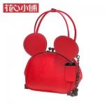 กระเป๋า Axixi พร้อมส่ง รหัส NM12205 สีแดง ทรงหนู โซ่รมดำ สวยมากค่ะ