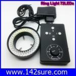 LER011 หลอดไฟLED Ring Light 62mm 72 LED Microscope Camera Illuminator Flash Lens 72LED