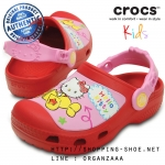 C12/13 (20 cm.) : Creative Crocs Hello Kitty Plane Clog - Red ของแท้ Outlet ไทยและอเมริกา