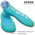 W6 (23 cm.) : Crocs Adrina Flat III - Tropical Teal / Ocean ของแท้ Outlet ไทยและอเมริกา
