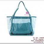 กระเป๋าแฟชั่นพร้อมส่ง รหัส TB-5704 แบบ พลาสติกใส มีกระเป๋าด้านใน แยกได้