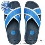 US10 : Fitflop Men's Surfer Slide Marine Blue ของแท้ นำเข้าจาก USA และ UK