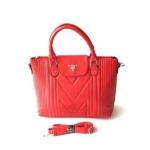 กระเป๋าเกาหลีพร้อมส่ง รหัส SUC0014RD สีแดง แบบสะพายข้างผู้หญิง ตั้งได้
