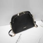 กระเป๋า Axixi รหัส NM12092-2 สีดำ มีหมุดทองรอบกระเป๋า น่ารัก