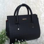 กระเป๋าถือใบใหญ่พร้อมส่ง รหัส SUB0020BK สีดำ แบบเรียบหรูดูดีมากค่ะ