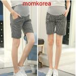 MK9507 กางเกงคนท้องขาสี่ส่วน มี 2 ลายให้เลือก มีผ้าพยุงท้อง เอวสามารถเลื่อนได้ตามอายุครรภ์