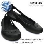 W8 (25 cm.) : Crocs Kadee Flat - Black ของแท้ Outlet ไทยและอเมริกา