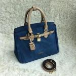 กระเป๋าถือและสะพายข้างผู้หญิงพร้อมส่ง รหัส SUB0022KK หูหิ้วสีน้ำตาล สวยค่ะ