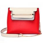 กระเป๋าแฟชั่นเกาหลี รหัส SUIF0148RD สีแดง แต่งที่คาดสีทอง น่าใช้ค่ะ