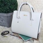 กระเป๋าถือใบใหญ่พร้อมส่ง รหัส SUB0020WH สีขาว แบบเรียบหรูดูดีมากค่ะ