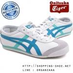 Onitsuka Tiger Mexico 66 - White / Ocean Blue ของแท้ มีกล่อง ป้ายครบ