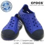 J3 (21.5 cm.) : Crocs Bump It Shoe - Cerulean Blue / Navy ของแท้ Outlet ไทยและอเมริกา